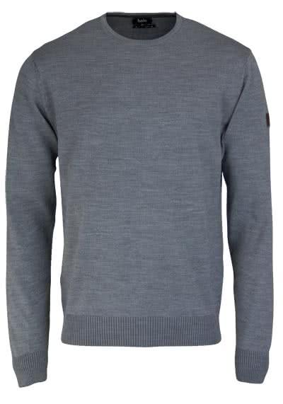 HAJO Pullover Smart Relaxx Langarm Rundhals hellgrau - Hemden Meister