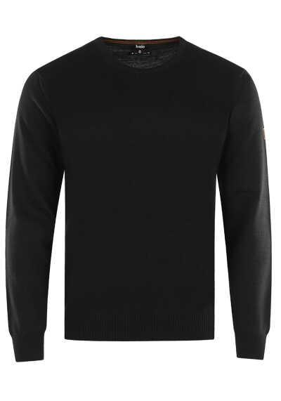 HAJO Pullover Smart Relaxx Langarm Rundhals schwarz - Hemden Meister