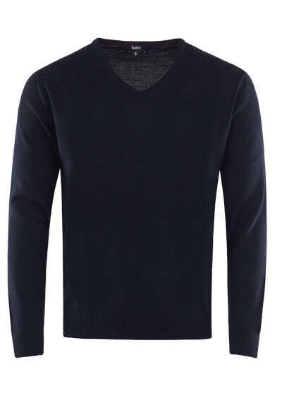 HAJO Pullover V-Ausschnitt Smart Relaxx Langarm nachtblau - Hemden Meister