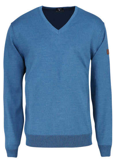 HAJO Pullover V-Ausschnitt Smart Relaxx Langarm petrol - Hemden Meister