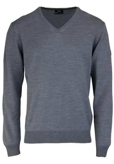 HAJO Pullover V-Ausschnitt Smart Relaxx Langarm hellgrau - Hemden Meister