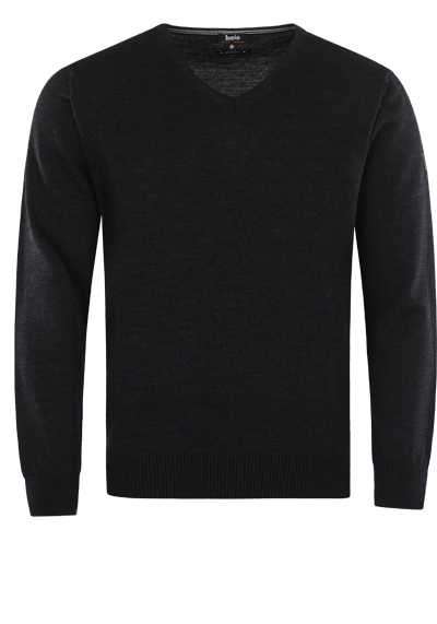 HAJO Pullover V-Ausschnitt Smart Relaxx Langarm anthrazit - Hemden Meister