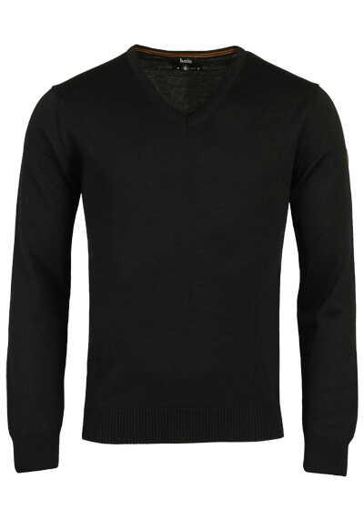 HAJO Pullover V-Ausschnitt Smart Relaxx Langarm schwarz - Hemden Meister