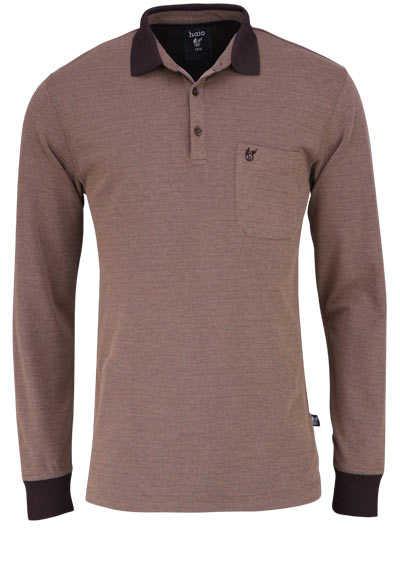 HAJO Poloshirt Langarm Polokragen geknöpft beige - Hemden Meister