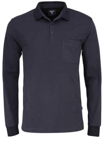 HAJO Poloshirt Langarm Polokragen geknöpft schwarz - Hemden Meister