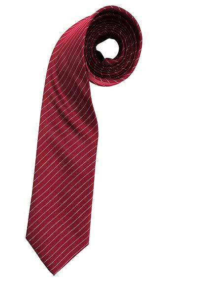 HEMDEN MEISTER Seidenkrawatte 8 cm breit extra lang Streifen mittelrot - Hemden Meister