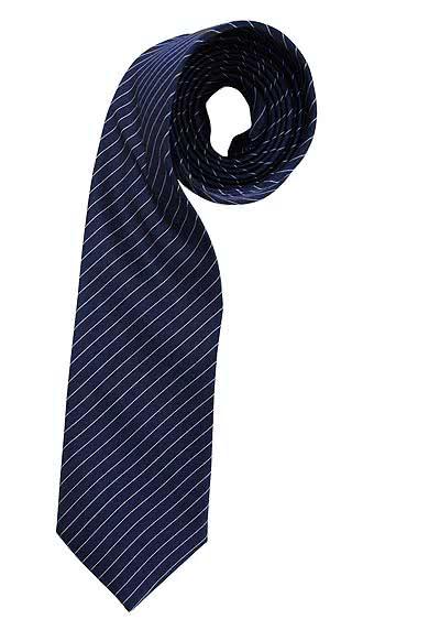 HEMDEN MEISTER Seidenkrawatte 8 cm breit extra lang Streifen blau - Hemden Meister