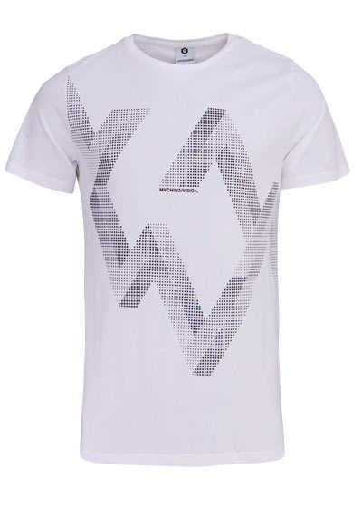JACK&JONES Halbarm T-Shirt CLOUD DANCER Rundhals weiß