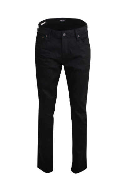JACK&JONES Slim Fit Jeans BLACK DENIM 5 Pocket schwarz