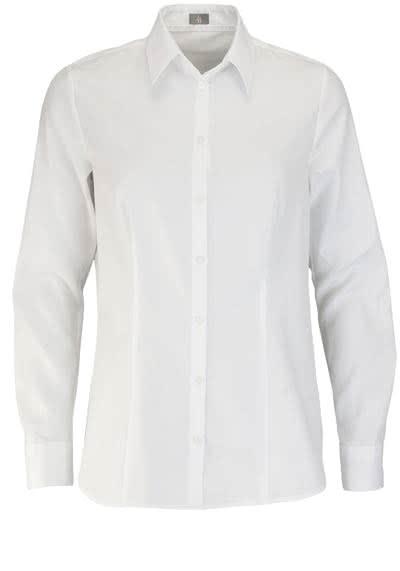 JACQUES BRITT Bluse Langarm Hemdkragen Streifen weiß - Hemden Meister
