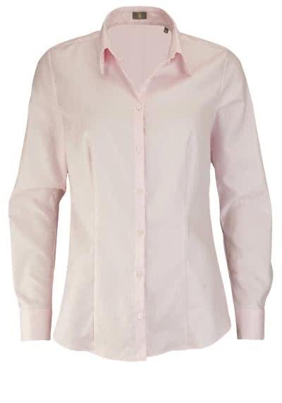 JACQUES BRITT Bluse Langarm Hemdkragen Streifen rosa - Hemden Meister