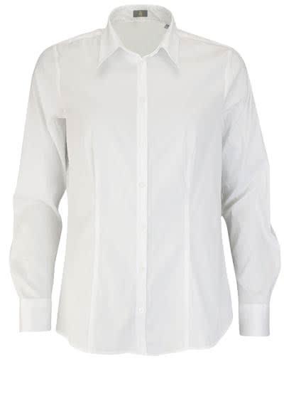 JACQUES BRITT Bluse Langarm Hemdkragen Strech weiß - Hemden Meister