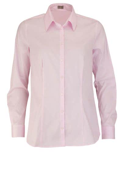JACQUES BRITT Bluse Langarm Hemdkragen Strech rosa - Hemden Meister