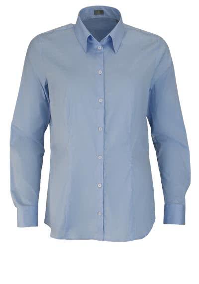 JACQUES BRITT Bluse Langarm Hemdkragen Strech hellblau - Hemden Meister