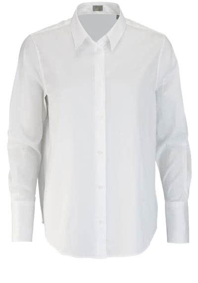 JACQUES BRITT Bluse Langarm Hemdkragen weiß - Hemden Meister