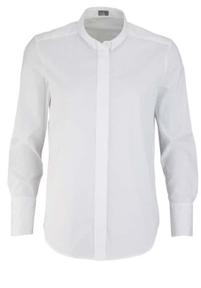 JACQUES BRITT Bluse Langarm Hemdkragen Stretch weiß - Hemden Meister