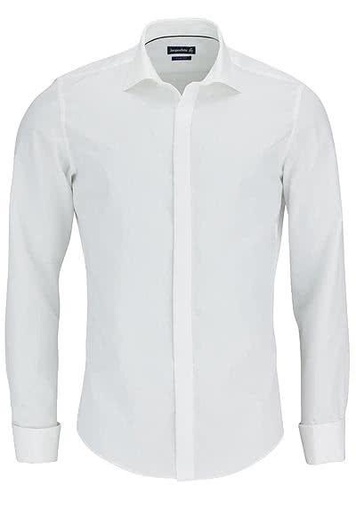 JACQUES BRITT Slim Fit Galahemd JOHN Langarm Popeline UMA beige - Hemden Meister