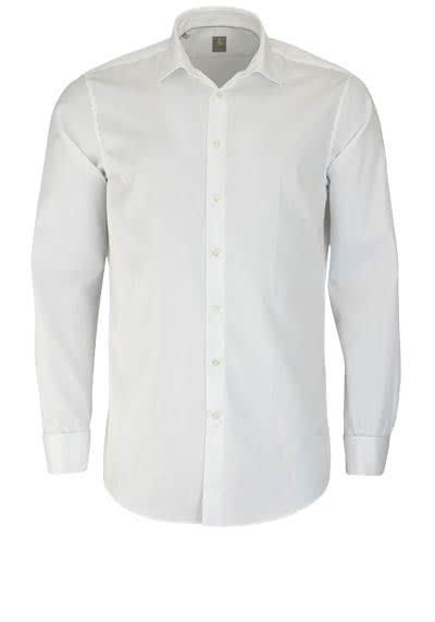 JACQUES BRITT Custom Fit Galahemd Langarm New Kent Kragen weiß - Hemden Meister