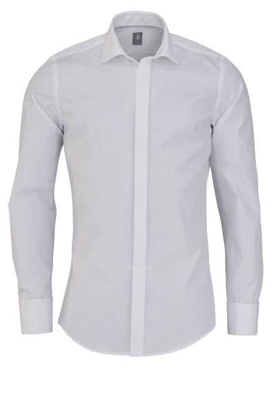 JACQUES BRITT Slim Fit Galahemd Langarm New Kent weiß - Hemden Meister