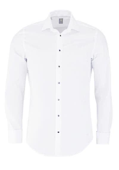 JACQUES BRITT Slim Fit Galahemd Langarm Umschlagmanschette weiß - Hemden Meister