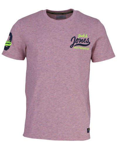 JACK&JONES Halbarm T-Shirt JORVARCITY TEE SS meliert hellrosa - Hemden Meister