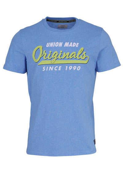 JACK&JONES Halbarm T-Shirt JORBRANDING Rundhals hellblau - Hemden Meister