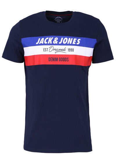 JACK&JONES Halbarm T-Shirt TOTAL ECLIPSE Rundhals navy - Hemden Meister