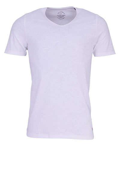 JACK&JONES Halbarm T-Shirt CLOUD DANCER V-Auschnitt weiß - Hemden Meister