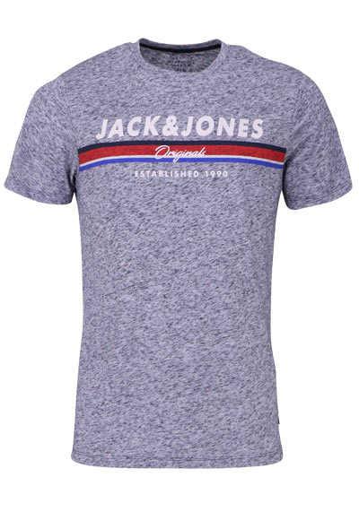 JACK&JONES Halbarm T-Shirt TOTAL ECLIPSE Rundhals nachtblau - Hemden Meister