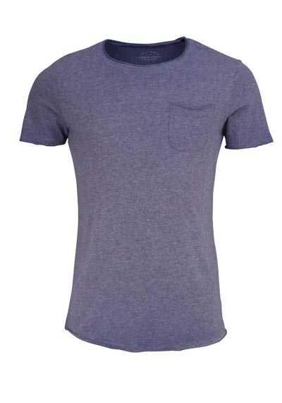 JACK&JONES T-Shirt Rundhals BLEACHED DENIM Vintage rauchblau - Hemden Meister
