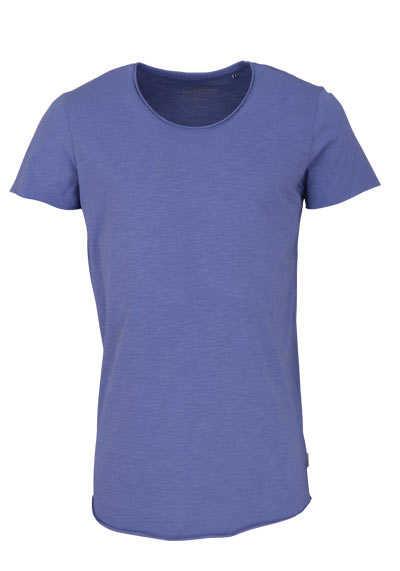 JACK&JONES Halbarm T-Shirt JJEBAS TEE SS Rundhals rauchblau - Hemden Meister