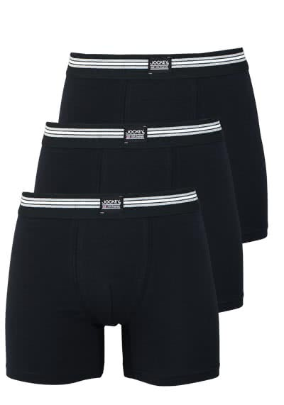 JOCKEY Boxer Trunk Boxershorts Single Jersey 3er Pack schwarz