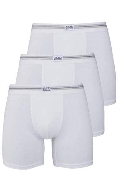 JOCKEY Boxer Trunk Boxershorts Single Jersey 3er Pack weiß