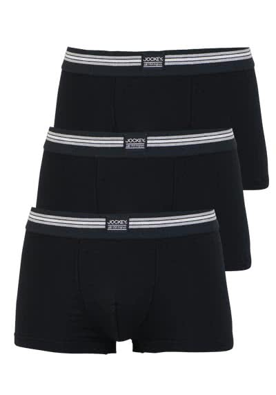 JOCKEY Short Trunk Boxershorts Single Jersey 3er Pack schwarz preisreduziert