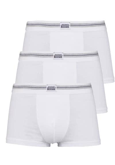 JOCKEY Short Trunk Boxershorts Single Jersey 3er Pack weiß preisreduziert
