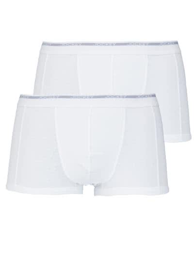 JOCKEY Modern Classic Short Trunk reine Baumwolle Doppelpack weiß - Hemden Meister