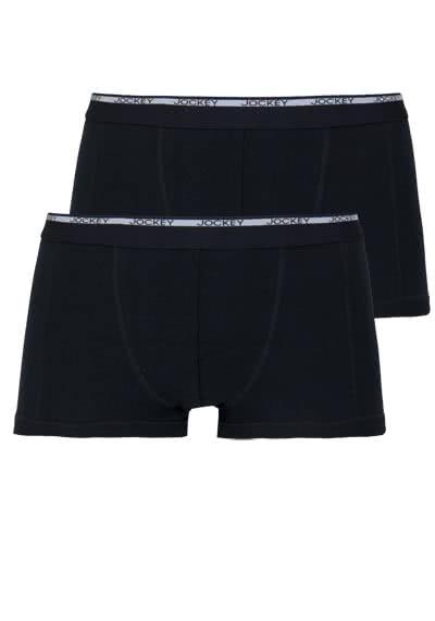 JOCKEY Modern Classic Short Trunk reine Baumwolle Doppelpack schwarz - Hemden Meister