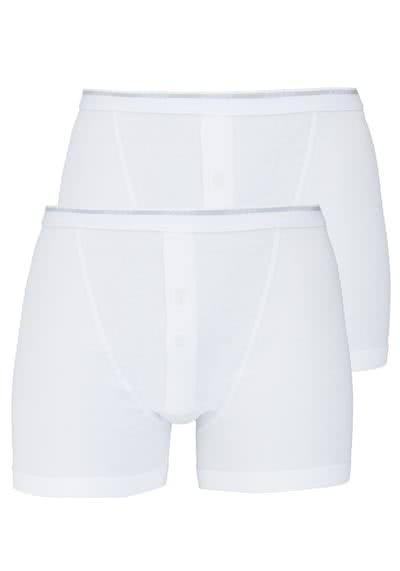 JOCKEY Modern Classic Boxer Trunk reine Baumwolle Doppelpack weiß - Hemden Meister