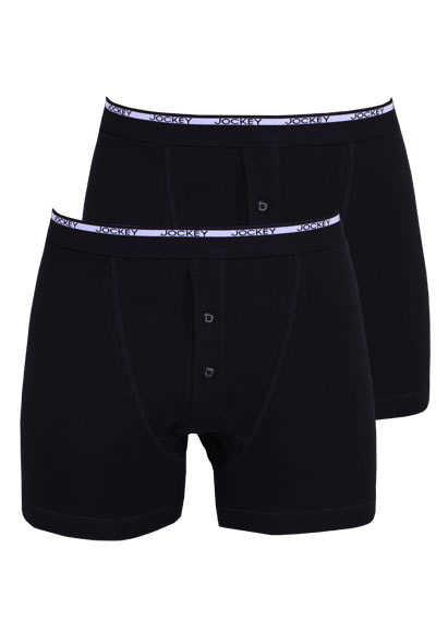 JOCKEY Modern Classic Boxer Trunk reine Baumwolle Doppelpack schwarz - Hemden Meister