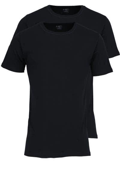 JOCKEY Modern Classic Halbarm T-Shirt Rundarm Doppelpack schwarz - Hemden Meister