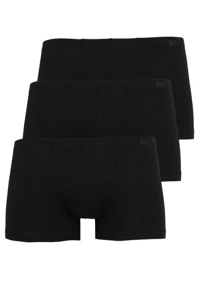 JOCKEY Short Trunk gesäumter Gummibund 3er Pack schwarz - Hemden Meister