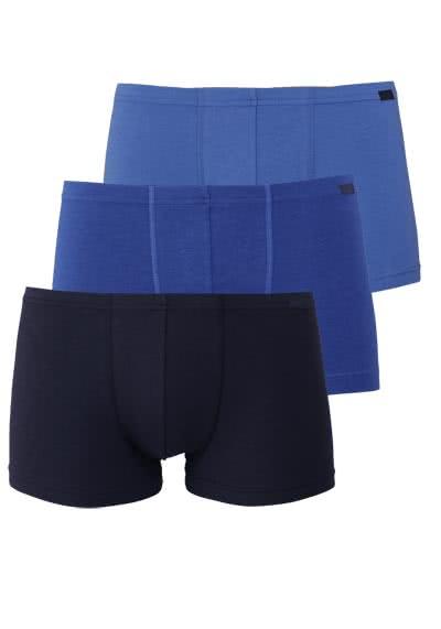 JOCKEY Short Trunk gesäumter Gummibund 3er Pack blau - Hemden Meister
