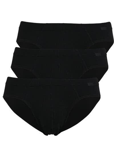 JOCKEY Brief Slip gesäumter Gummibund 3er Pack schwarz - Hemden Meister