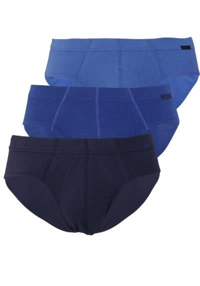 JOCKEY Brief Slip gesäumter Gummibund 3er Pack blau - Hemden Meister