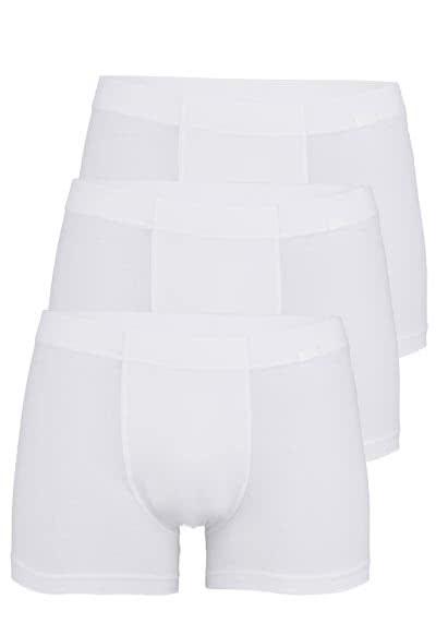 JOCKEY Trunk gesäumter Gummibund 3er Pack weiß - Hemden Meister