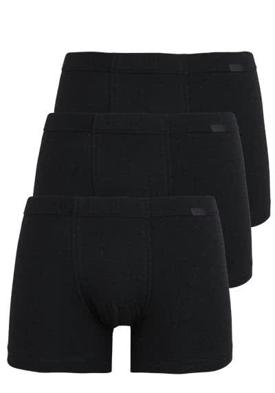 JOCKEY Trunk gesäumter Gummibund 3er Pack schwarz - Hemden Meister