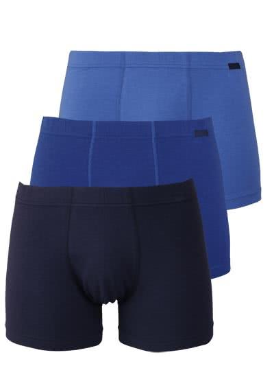 JOCKEY Trunk gesäumter Gummibund 3er Pack blau - Hemden Meister