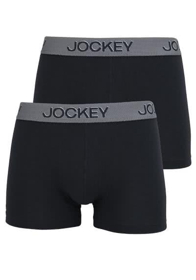 JOCKEY Short Trunk Boxershort Mikrofaser Webgummi Doppelpack schwarz - Hemden Meister