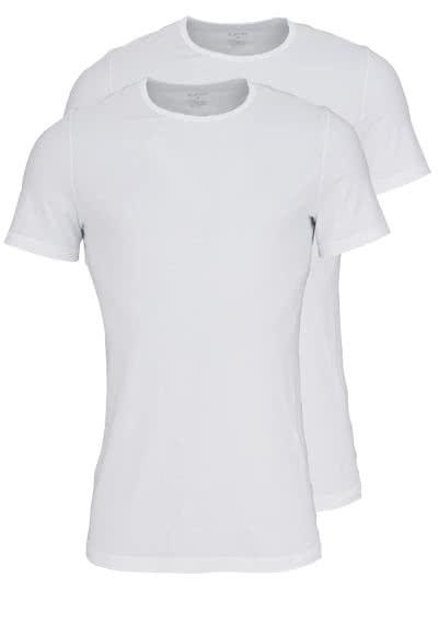 JOCKEY T-Shirt Halbarm Rundhals Baumwollmix Doppelpack weiß - Hemden Meister