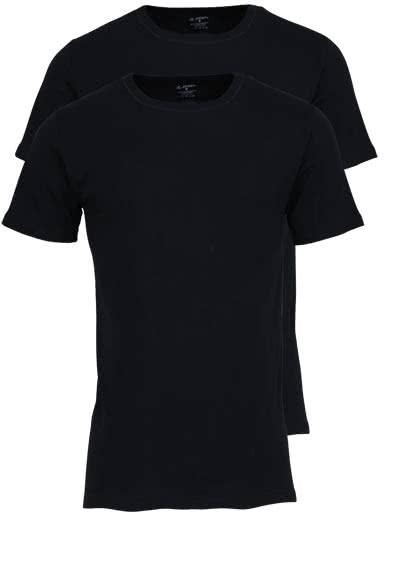 JOCKEY T-Shirt Halbarm Rundhals Baumwollmix Doppelpack schwarz - Hemden Meister